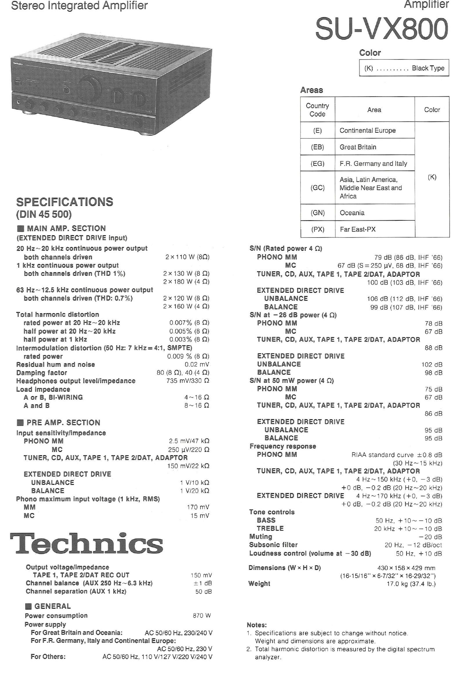 technics_su-vx800_specs