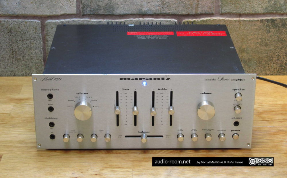 Marantz Model 1120 – amplifier adjustment and maintenance |